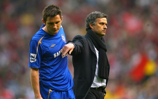 Jose Mourinho coached Frank Lampard at Chelsea