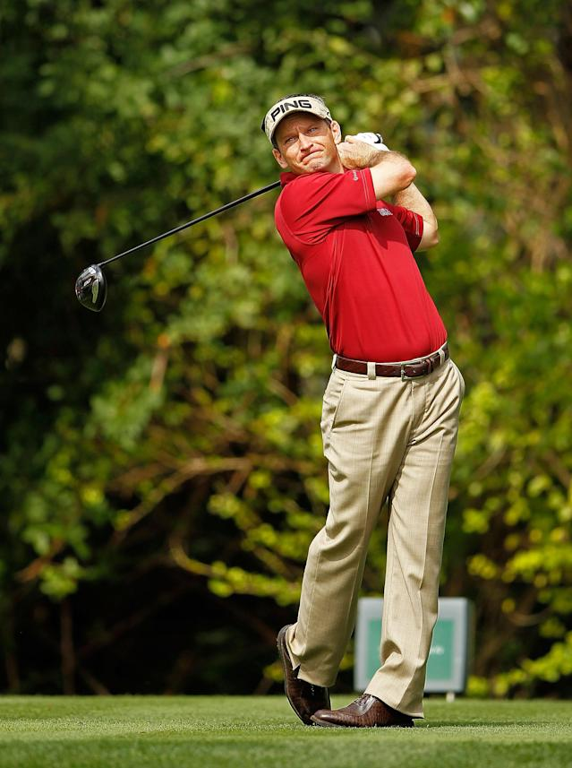 PALM BEACH GARDENS, FL - MARCH 01: Mark Wilson hits his tee shot on the third hole during the first round of the Honda Classic at PGA National on March 1, 2012 in Palm Beach Gardens, Florida. (Photo by Mike Ehrmann/Getty Images)