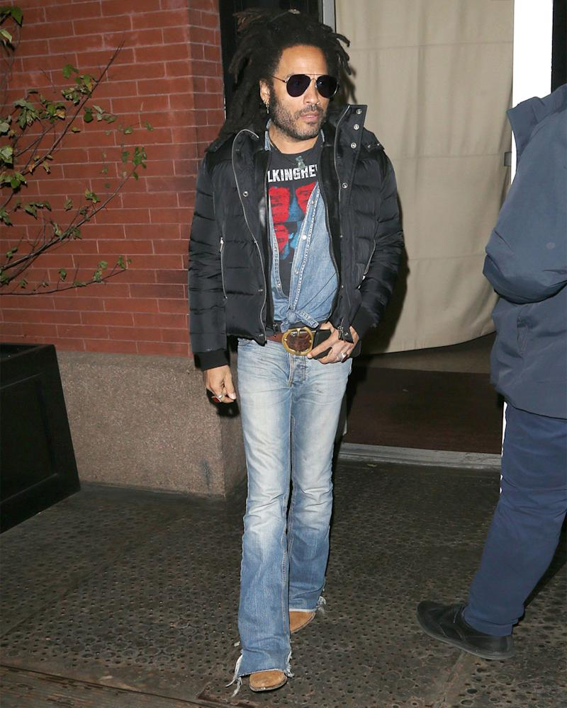 Lenny Kravitz's #BigFitoftheDay has us all tied up in knots.