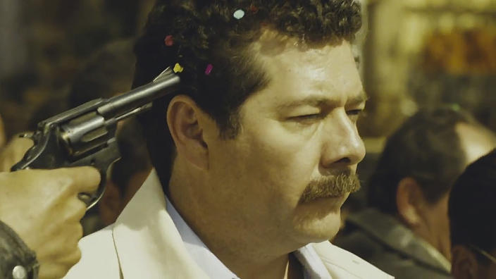 "In this still image taken from the trailer of the film ""Colosio"" released by the film's producers Alebrije/Cinetc on June 13, 2012, Mexican actor Enoc Leano plays the part of the slain Mexican presidential candidate Luis Donaldo Colosio on the day he was assassinated in Tijuana, Mexico on March 23, 1994. ""Colosio,"" which portrays the 1994 killing of a candidate who was almost certain to be the next president, casts doubts on the official conclusion that a lone gunman planned and carried out the killing of Luis Donaldo Colosio, which is often compared to John F. Kennedy's assassination. It is one of several new politically minded films being released just ahead of Mexico's July 1 election that are aimed at reminding Mexicans of the dark side of the Institutional Revolutionary Party, which governed Mexico for 71 years, and which seems set to return to power. (AP Photo/Alebrije/ Cinetc)"
