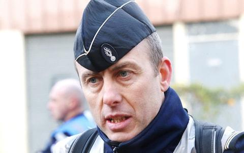 Arnaud Beltrame, the policeman who died after being seriously injured during the siege, was praised by Emmanuel Macron - Credit:  BOYER Claude