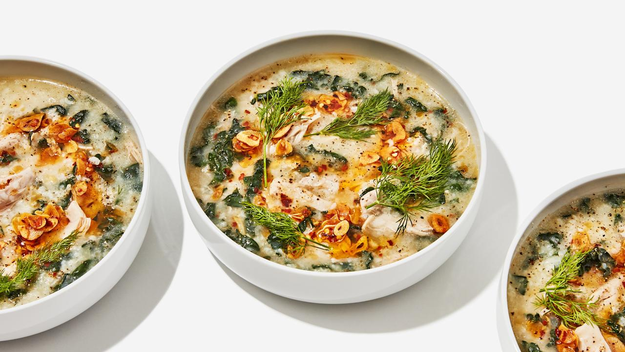 """""""My boyfriend and I can't get enough,"""" says reader Shaina. <a href=""""https://www.bonappetit.com/recipe/chicken-and-rice-soup-with-garlicky-chile-oil?mbid=synd_yahoo_rss"""">See recipe.</a>"""