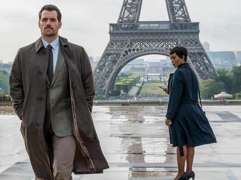Cavill (left) in the 2018 blockbuster 'Mission: Impossible - Fallout'Chiabella James