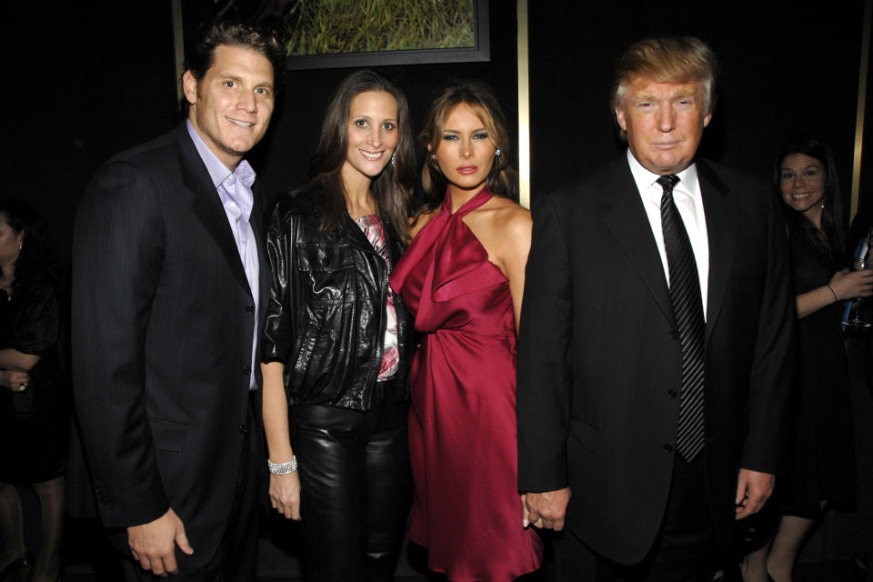 Stephanie Winston Wolkoff and Melania Trump flanked by their respective husbands, David Wolkoff and Donald Trump, at a 2008 event in New York City. (Photo: BILLY FARRELL/Patrick McMullan via Getty Images)