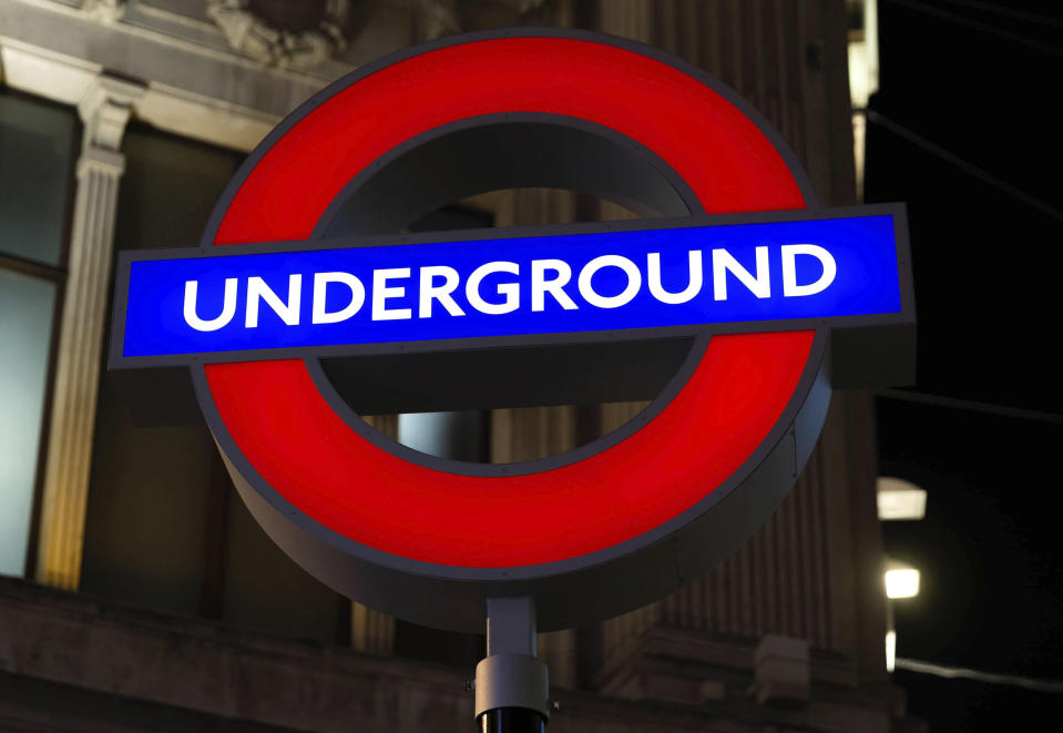 The London Underground sign at Oxford Circus Station. Photo: Star Max/IPX