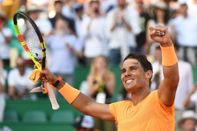 Rafael Nadal eased past Karen Khachanov to set up a Monte Carlo quarter-final with Dominic Thiem (AFP Photo/YANN COATSALIOU)
