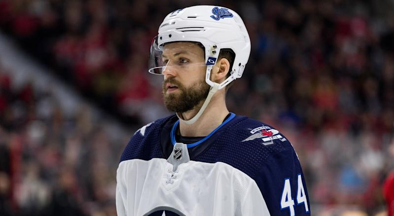Jets general manager Kevin Cheveldayoff has locked up one of his most consistent blueliners in Josh Morrissey to a long-term deal. (Photo by Richard A. Whittaker/Icon Sportswire via Getty Images)
