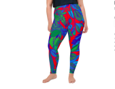 """<p><strong>Rochelle Porter</strong></p><p>rochelleporter.com</p><p><strong>$69.00</strong></p><p><a href=""""https://rochelleporter.com/collections/activewear/products/red-lala-plus-size-leggings"""" rel=""""nofollow noopener"""" target=""""_blank"""" data-ylk=""""slk:Shop Now"""" class=""""link rapid-noclick-resp"""">Shop Now</a></p><p>These leggings will make you the life of the party in any fitness class. Not only are they beautiful, but they're also available in 2XL to 6XL. There's also a matching sports bra if you want to go all-out!</p>"""