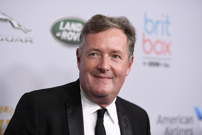 Piers Morgan lashed out at the Notting Hill star for declaring the UK 'finished' ( Frazer Harrison/Getty Images)