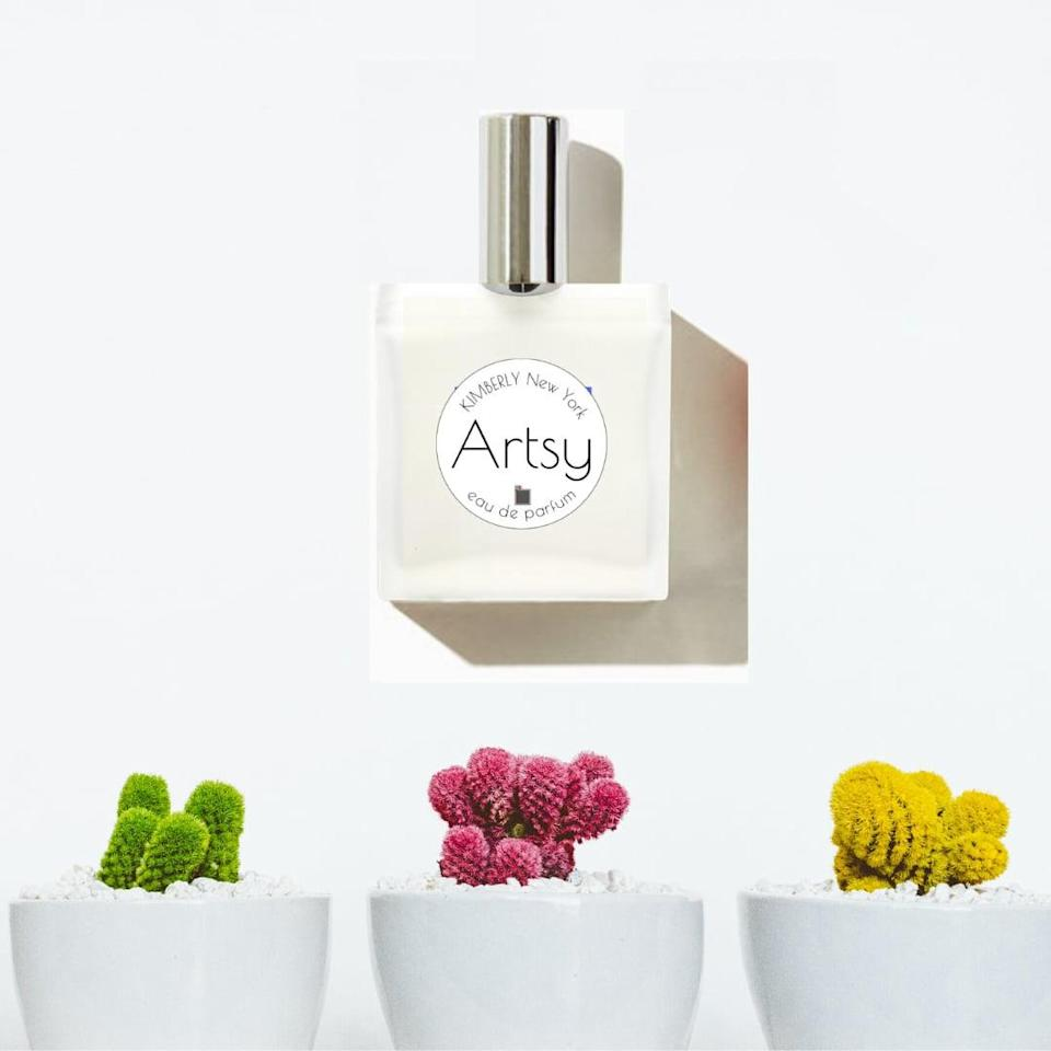 """<p>Kimberly New York was founded in 2016 shortly after its creator, Kimberly Walker, crafted the brand's signature scent, Artsy.</p> <p><strong>How to support Kimberly New York:</strong> <a href=""""https://www.popsugar.com/buy/Kimberly-New-York-Artsy-Eau-De-Parfum-586600?p_name=Kimberly%20New%20York%20Artsy%20Eau%20De%20Parfum&retailer=kimberlynewyork.com&pid=586600&price=99&evar1=bella%3Aus&evar9=47591883&evar98=https%3A%2F%2Fwww.popsugar.com%2Fphoto-gallery%2F47591883%2Fimage%2F47592002%2FKimberly-New-York&list1=perfume%2Cbeauty%20brands&prop13=api&pdata=1"""" class=""""link rapid-noclick-resp"""" rel=""""nofollow noopener"""" target=""""_blank"""" data-ylk=""""slk:Kimberly New York Artsy Eau De Parfum"""">Kimberly New York Artsy Eau De Parfum</a> ($99)</p>"""