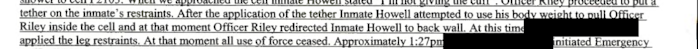 One of the near-identical statements from one of Michael Riley Jr.'s fellow corrections officers.