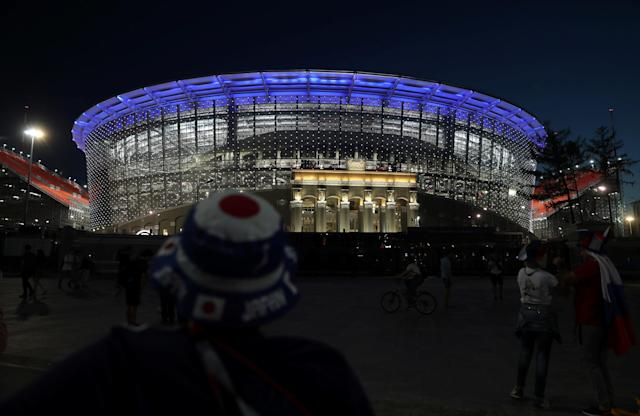 Soccer Football - World Cup - Group H - Japan v Senegal - Ekaterinburg Arena, Yekaterinburg, Russia - June 24, 2018. Fans leave the stadium after the match. REUTERS/Marcos Brindicci