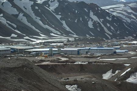 The Veladero mine camp, one of Barrick Gold Corp's five core mines, near the city of Jachal