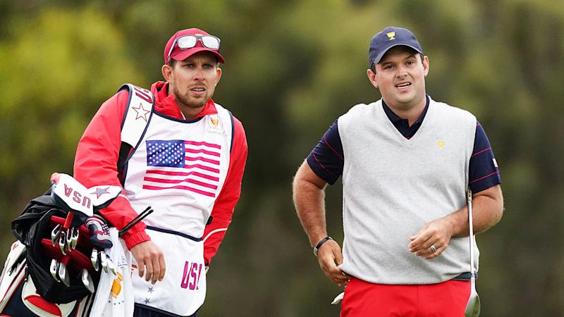 Patrick Reed seen here on the right with his caddie Kessler Karain.