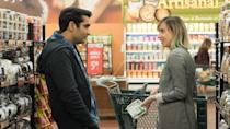 <p> Silicon Valley's Kumail Nanjiani writes and stars in this comedy based on his own marriage. The trials of cross-cultural romance come under scrutiny as stand-up comic Kumail falls for an American student at one of his shows. Not exactly the life his Muslim parents had in mind for him, but that's the least of his concerns; shortly after they start dating, Emily falls into a coma, leaving Kumail to have to deal with her parents. </p> <p> Billed as a traditional romantic comedy, The Big Sick has a lot more heart and edge than the posters and trailers would have you believe. The chemistry between Nanjiani and Holly Hunter and Ray Romano - as Emily's parents - provides most of the real grit. Realistic, and proof that there is still a lot of originality left in the genre. </p>