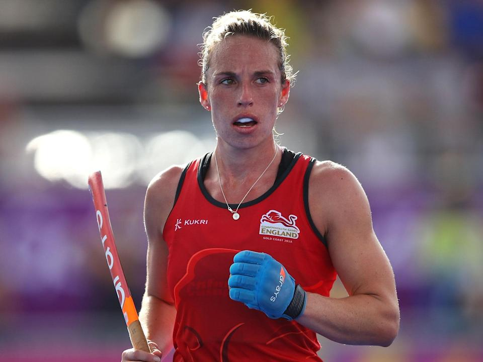 Susannah Townsend, English international field hockey player: Photo by Mark Kolbe/Getty Images
