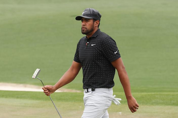 Tony Finau got a surprise phone call in the middle of his round. (Kevin C. Cox/Getty Images)