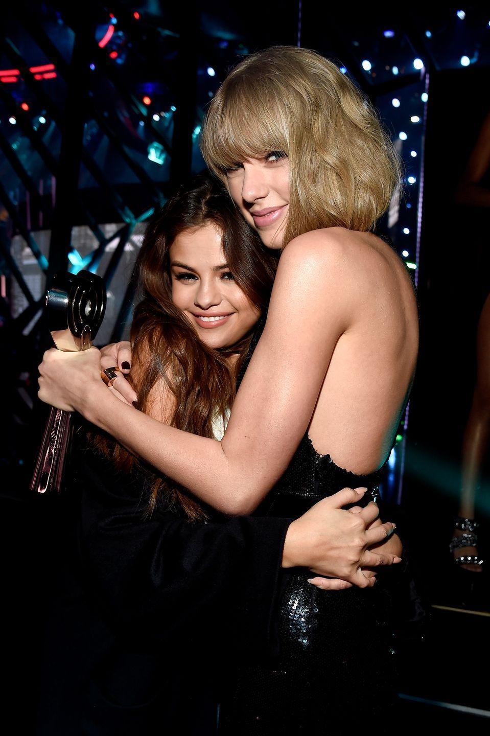 """<p>""""Taylor has such a beautiful way of bringing people together. That was good for me, because the more I started working, the more uncomfortable I was. I wouldn't trust people, and Taylor has a way of stripping down everything and just getting down to being human. I love that."""" — Selena Gomez, <em><a href=""""https://www.flare.com/fashion/november-cover-star-selena-gomez-i-feel-in-control/"""" rel=""""nofollow noopener"""" target=""""_blank"""" data-ylk=""""slk:Flare Magazine"""" class=""""link rapid-noclick-resp"""">Flare Magazine</a></em></p><p>""""It's been the longest [friendship] I think either of us had really....longevity is something you really can find very precious and rare in friendships."""" — Taylor Swfit, <em><a href=""""https://www.eonline.com/news/540658/taylor-swift-reveals-why-her-friendship-with-selena-gomez-is-so-special-watch-now"""" rel=""""nofollow noopener"""" target=""""_blank"""" data-ylk=""""slk:E! News"""" class=""""link rapid-noclick-resp"""">E! News</a></em></p>"""
