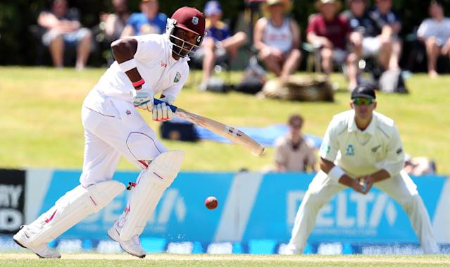 DUNEDIN, NEW ZEALAND - DECEMBER 06: Darren Bravo of the West Indies bats during day four of the first test match between New Zealand and the West Indies at University Oval on December 6, 2013 in Dunedin, New Zealand. (Photo by Rob Jefferies/Getty Images)