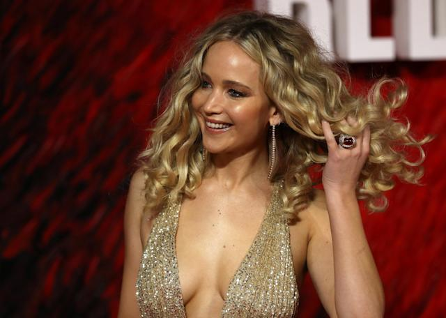 "Actor Jennifer Lawrence arrives for the European premiere of ""Red Sparrow"" in London, Britain February 19, 2018. (Photo: REUTERS/Simon Dawson)"