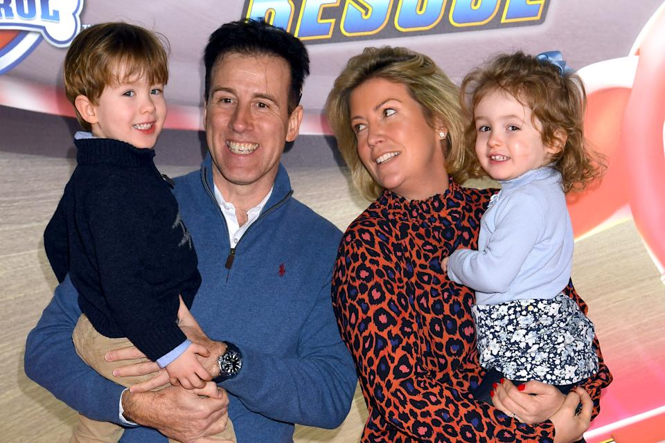 "LONDON, ENGLAND - JANUARY 19: Anton Du Beke and Hannah Summers attend the ""Paw Patrol"" gala screening at Cineworld Leicester Square on January 19, 2020 in London, England. (Photo by Dave J Hogan/Getty Images)"