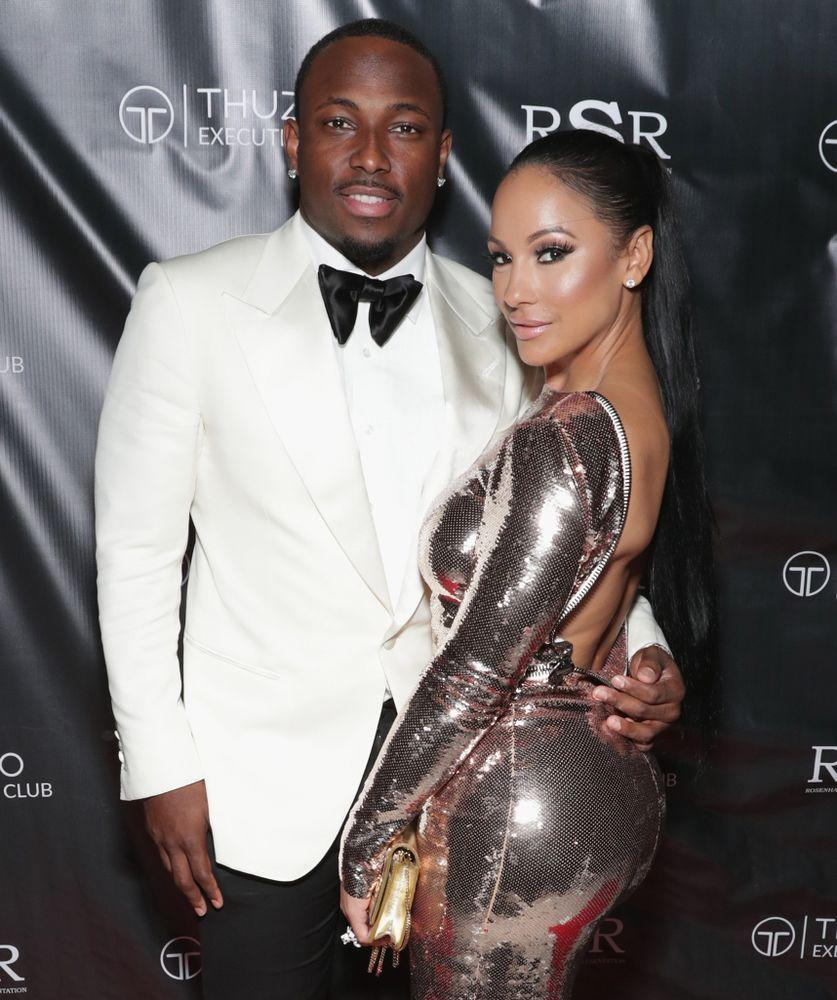 LeSean McCoy and Delicia Cordon pictured last year