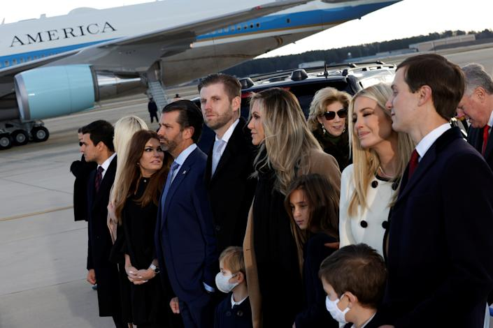 <p>Trump family members leave Washington DC on Wednesday</p> (REUTERS)