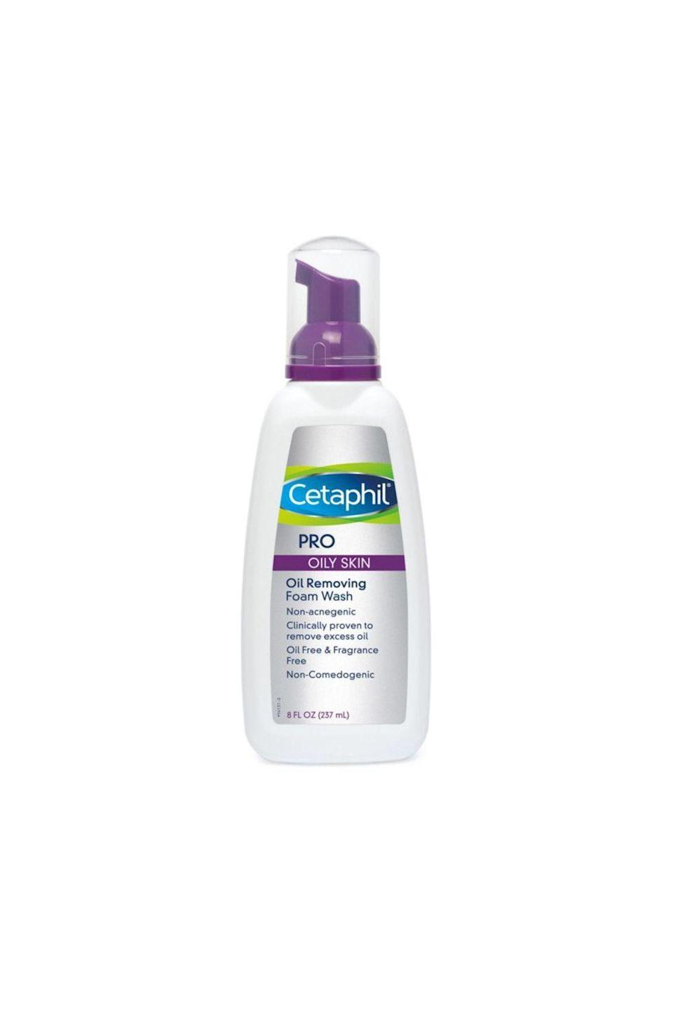 """<p><strong>Cetaphil</strong></p><p>ulta.com</p><p><strong>$14.99</strong></p><p><a href=""""https://go.redirectingat.com?id=74968X1596630&url=https%3A%2F%2Fwww.ulta.com%2Fp%2Fdermacontrol-oil-control-foam-wash-xlsImpprod5140063&sref=https%3A%2F%2Fwww.oprahdaily.com%2Fbeauty%2Fskin-makeup%2Fg36743937%2Fbest-face-wash-for-acne%2F"""" rel=""""nofollow noopener"""" target=""""_blank"""" data-ylk=""""slk:Shop Now"""" class=""""link rapid-noclick-resp"""">Shop Now</a></p><p>If you have oily skin, you probably like the feel of a foaming cleanser. But that squeaky-clean aftereffect is bad news for your face in the long run. This wash, however, uses a zinc-based cleansing system that bubbles up without totally messing up your skin's natural barrier. """"It's also great at removing makeup,"""" says Zeichner. </p>"""