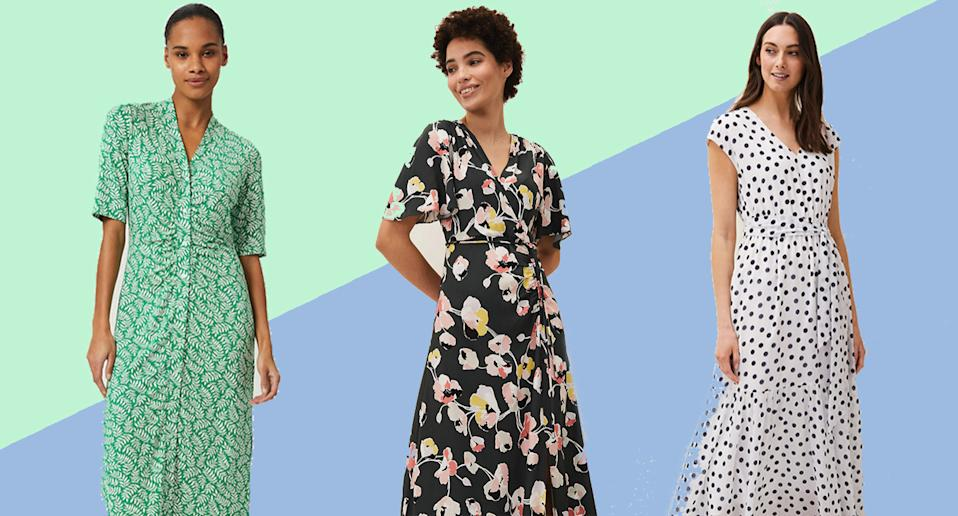 All these dreamy dresses are on sale at M&S right now. (Marks and Spencer)