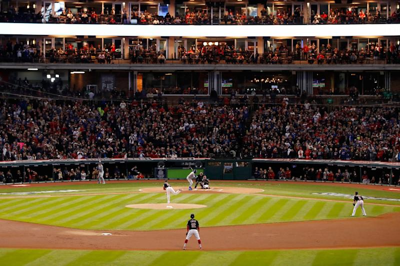 The World Series in Cleveland at Progressive Field. (Getty Images)