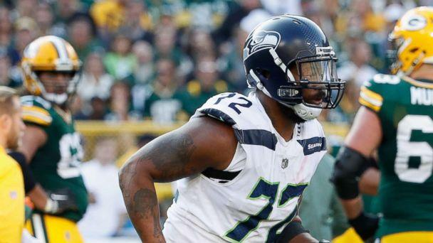 PHOTO: Michael Bennett of the Seattle Seahawks walks off the field during the second half against the Green Bay Packers at Lambeau Field, Sept. 10, 2017, in Green Bay, Wis. (Joe Robbins/Getty Images)