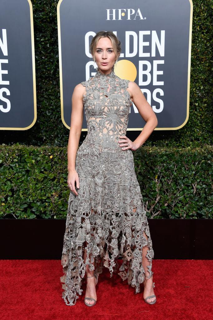 <p><em>Mary Poppins Returns</em> star Emily Blunt attends the 76th Annual Golden Globe Awards at the Beverly Hilton Hotel in Beverly Hills, Calif., on Jan. 6, 2019. (Photo: Getty Images) </p>