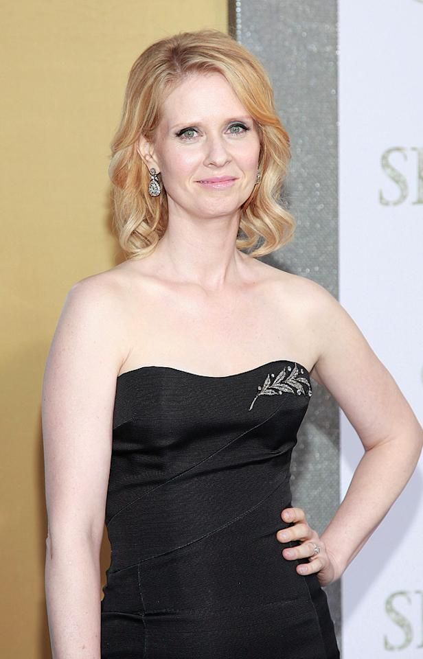 """<a href=""""http://movies.yahoo.com/movie/contributor/1800093058"""">Cynthia Nixon</a> at the New York City premiere of <a href=""""http://movies.yahoo.com/movie/1810111276/info"""">Sex and the City 2</a> - 05/24/2010"""