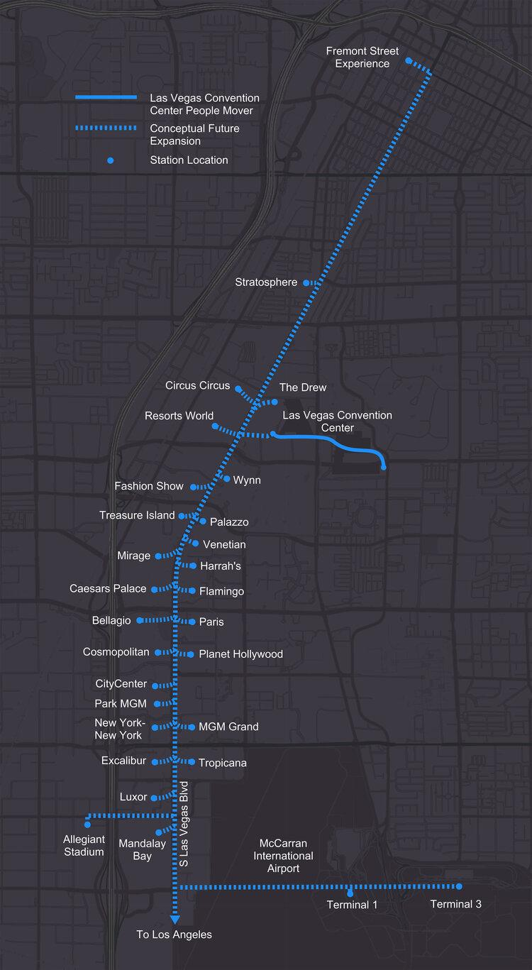 The Boring Company's proposed network of tunnels under Las VegasThe Boring Company
