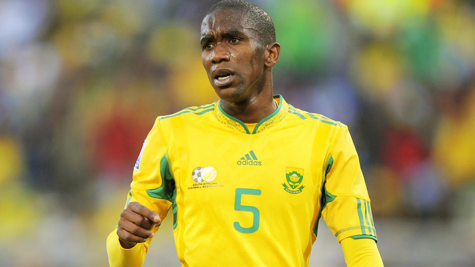 Anele Ngcongca, pictured here in action for South Africa at the 2010 World Cup.