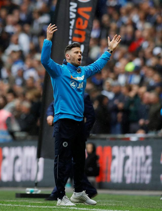 Soccer Football - National League Promotion Final - Tranmere Rovers v Boreham Wood - Wembley Stadium, London, Britain - May 12, 2018 Boreham Woods' manager Luke Garrard reacts Action Images/Andrew Couldridge