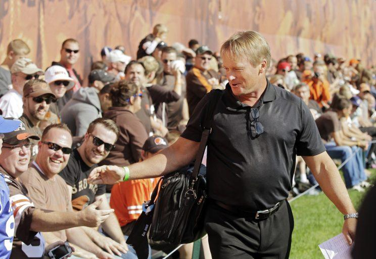 Jon Gruden's son Deuce has become a successful powerlifter. (AP)