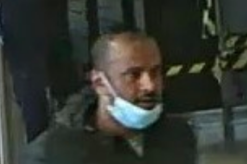 Police are trying to trace this man in connection to the incident: British Transport Police