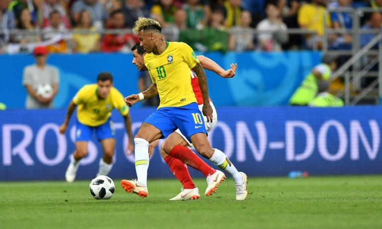 Neymar started against Switzerland