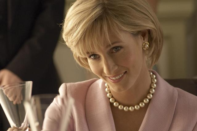 Diana, as played by Genevieve O'Reilly. (Channel 5/PA Images)