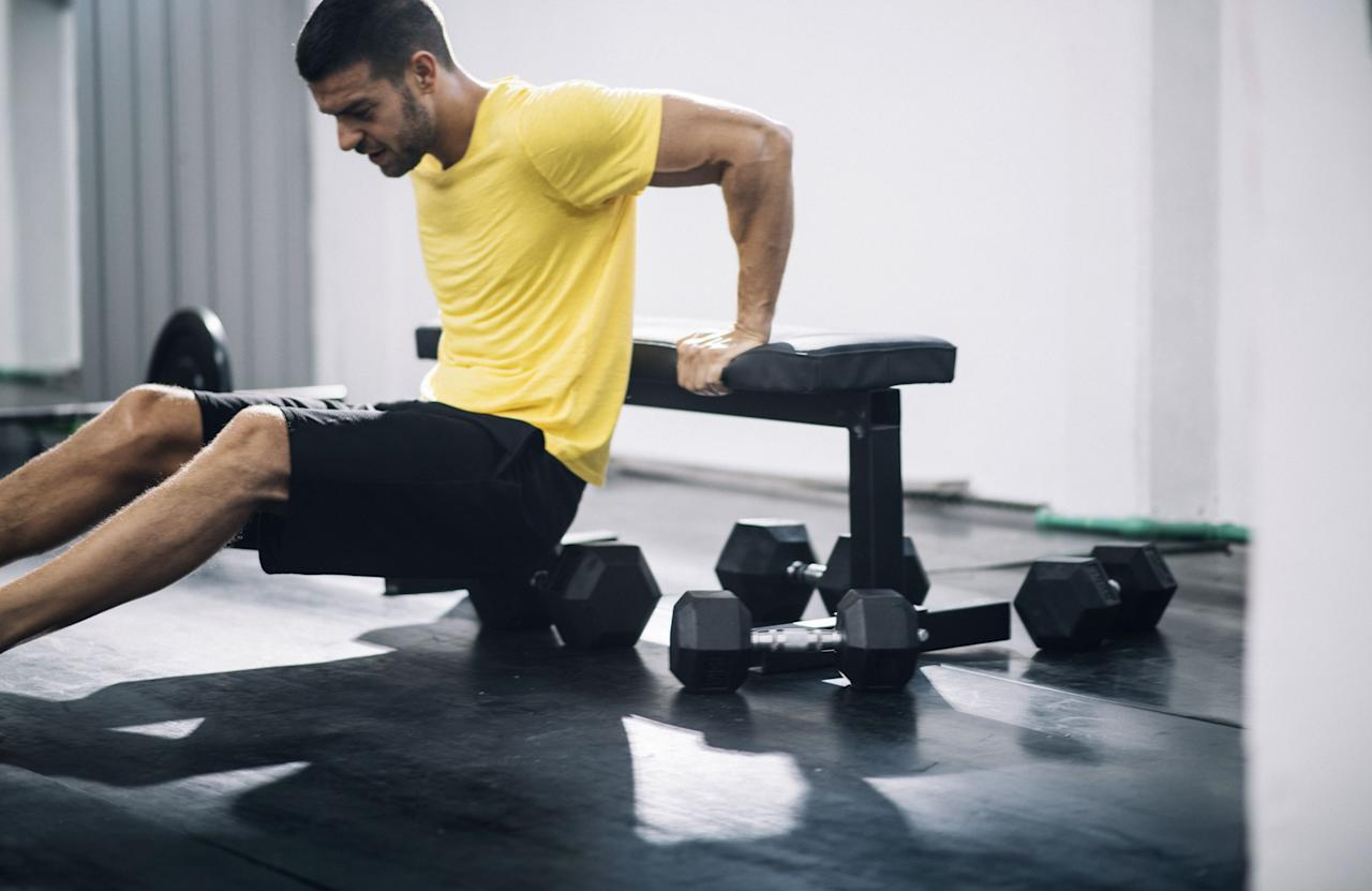 <p>From Arnie to Hulk Hogan, there's no getting away from the fact that a physique is not complete without a decent set of pipes. Work through the following movements as quickly as possible while maintaining perfect form, performing the reps of each exercise in a circuit for a total of 10 rounds.</p>