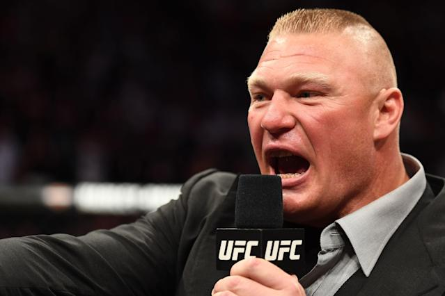 Brock Lesnar is retiring from the UFC for a second time, according to Dana White. (Getty Images)