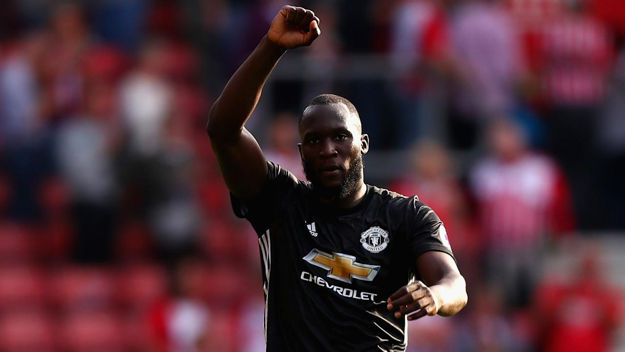 Manchester United fans defied warnings about their Romelu Lukaku chant on Saturday but the club's manager praised them for their support.