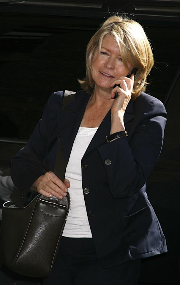 Martha Stewart arrives to the <em>Late Show with David Letterman</em> on September 11, 2006 in New York City. Photo courtesy of Getty Images.