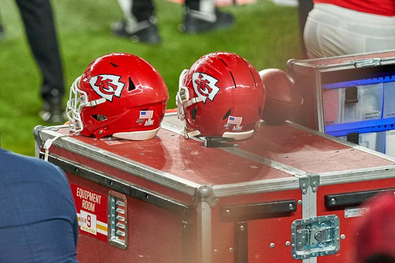 Players will have the option to wear a helmet sticker honoring a victim of race or police violence. (Photo by Robin Alam/Icon Sportswire via Getty Images)