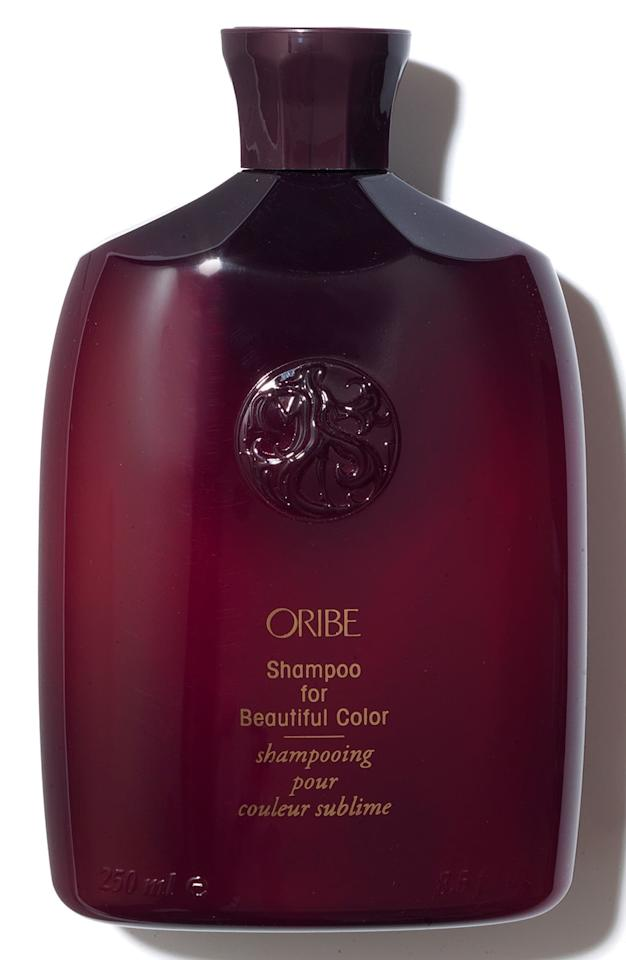 "<p>The gentle <a href=""https://www.popsugar.com/buy/Oribe-Shampoo-Beautiful-Color-475134?p_name=Oribe%20Shampoo%20for%20Beautiful%20Color&retailer=shop.nordstrom.com&pid=475134&price=46&evar1=bella%3Aus&evar9=46449318&evar98=https%3A%2F%2Fwww.popsugar.com%2Fbeauty%2Fphoto-gallery%2F46449318%2Fimage%2F46449473%2FOribe-Shampoo-Beautiful-Color&list1=hair%2Cbeauty%20products%2Cshampoo&prop13=api&pdata=1"" rel=""nofollow"" data-shoppable-link=""1"" target=""_blank"" class=""ga-track"" data-ga-category=""Related"" data-ga-label=""https://shop.nordstrom.com/s/space-nk-apothecary-oribe-shampoo-for-beautiful-color/4515410?origin=keywordsearch-personalizedsort&amp;breadcrumb=Home%2FAll%20Results&amp;color=none"" data-ga-action=""In-Line Links"">Oribe Shampoo for Beautiful Color </a> ($46) won't make your color fade or dull over time and is deeply moisturizing. </p>"