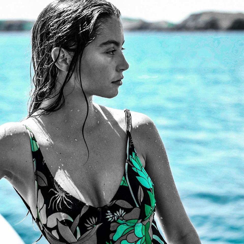 Catherine also shared a photo of Carys by the water in a one-piece. Photo: Instagram/Catherine Zeta-Jones