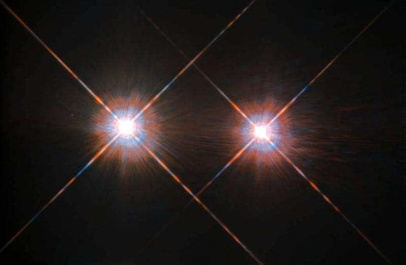 The Alpha Centauri group of stars, which is our nearest neighbour. The new study had pessimistic news about the possibility of alien life there –but good findings for those looking for aliens elsewhere in the cosmos: NASA/ESA Hubble Space Telescope