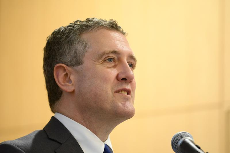 James Bullard, president and chief executive officer of the Federal Reserve Bank of St. Louis, speaks at an event in Tokyo, Japan, on Tuesday, May 29, 2018. Japans tough fight to beat a deflationary mindset has been instructive for the rest of the world to understand the consequences of inflation expectations rooted at a low level, said Bullard. Photographer: Akio Kon/Bloomberg via Getty Images