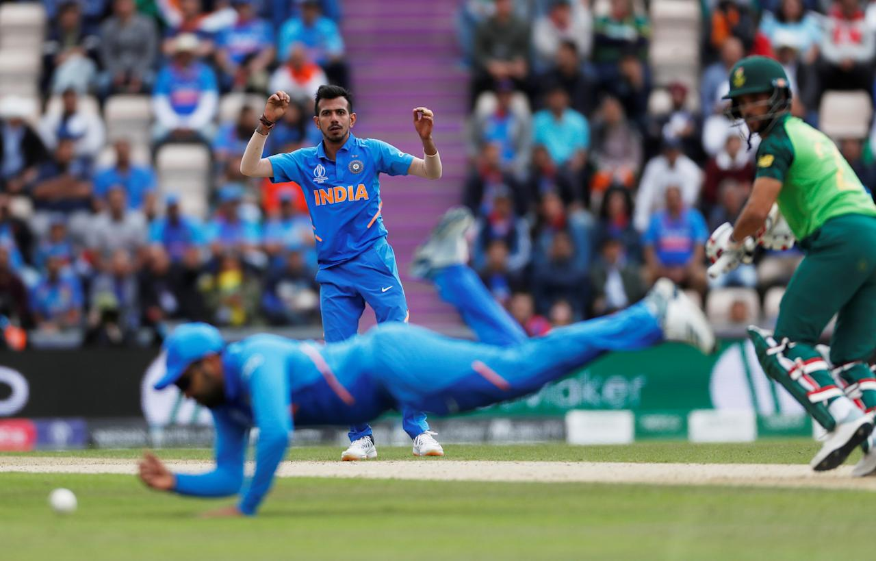 Cricket - ICC Cricket World Cup - South Africa v India - The Ageas Bowl, Southampton, Britain - June 5, 2019   India's Yuzvendra Chahal during the match             Action Images via Reuters/Paul Childs     TPX IMAGES OF THE DAY
